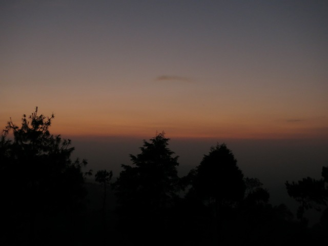 Beautiful twilight when we arrived in Nagarkot.