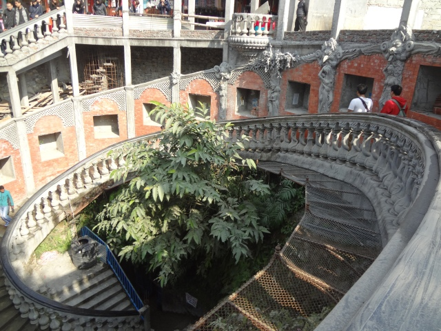 Snake stairs to Gupteshwor Mahadev cave...Be ready to climb up (after you climbed down)!!