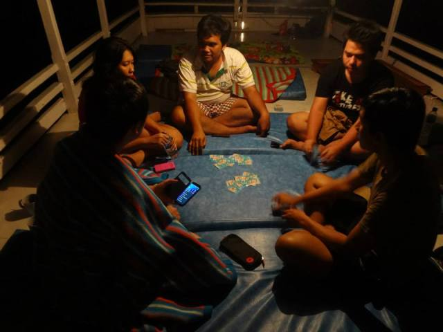 Night activity: playing cards!