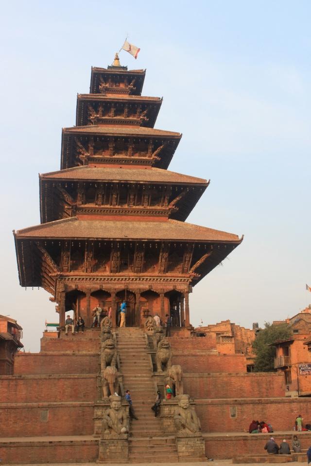 Nyatapola Temple. Do you notice the guards?