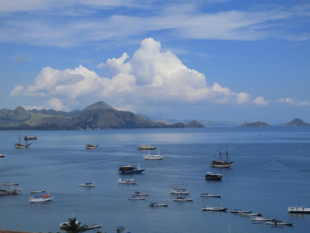 The view from the hill in Labuan Bajo.