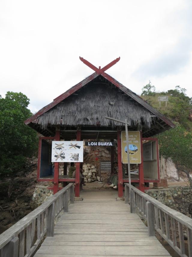 The gate to enter Loh Buaya where komodo build their nests