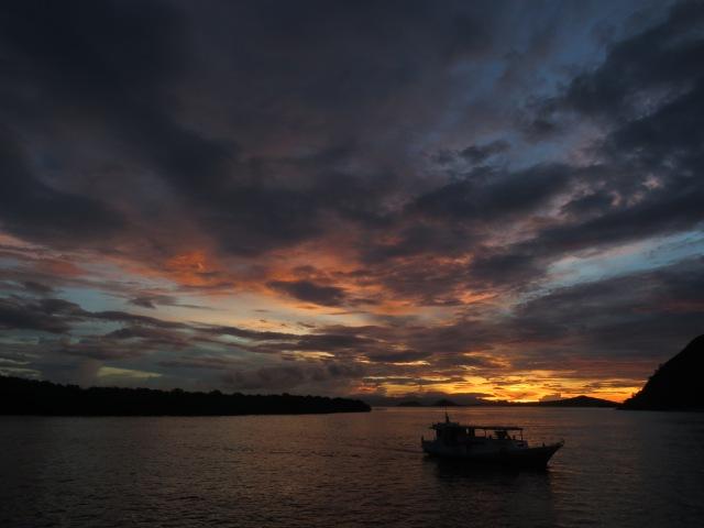 First sunset in Komodo