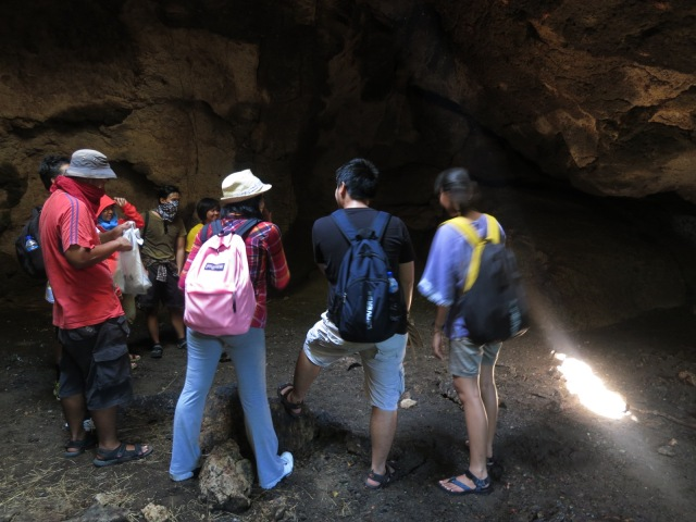 Discussing inside the cave because discussing on the round table is too formal.