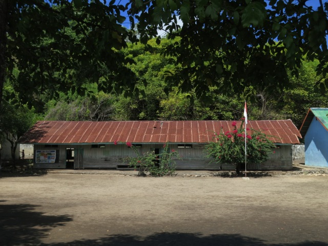The school in Rinca Village