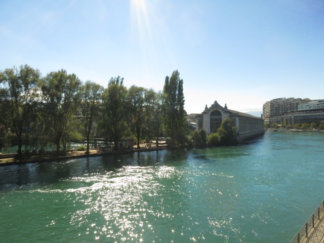 Rhone River - I am amazed how clean the rivers here in Switzerland!