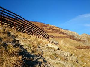 The sign that you almost reach the top of Pic Chaussy: fences.