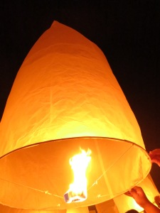 Huge lantern is fired!