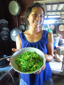 Our lovely chef, farmer, host lady!